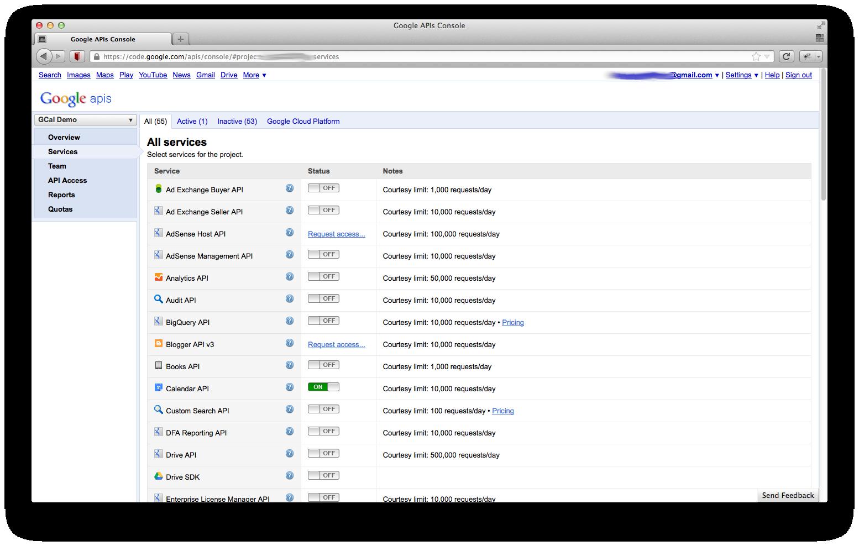 Integrating Google Calendar into a Wicket Application
