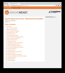 Apache Wicket Guide Screenshot