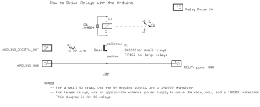 How to drive relays with an Arduino