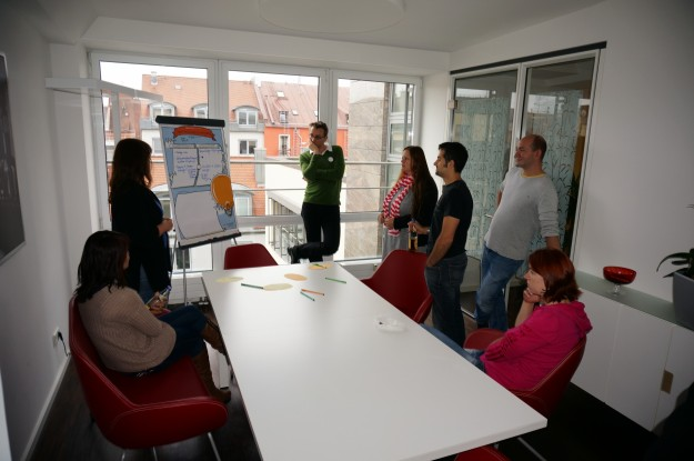 Individual workshops were used to develop the topic areas; goals and ideas were defined.