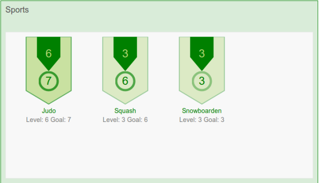 Skill Visualization Badges