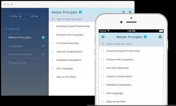 Meteor JavaScript app platform